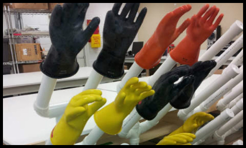 Electrical Safety Rubber Glove Testing